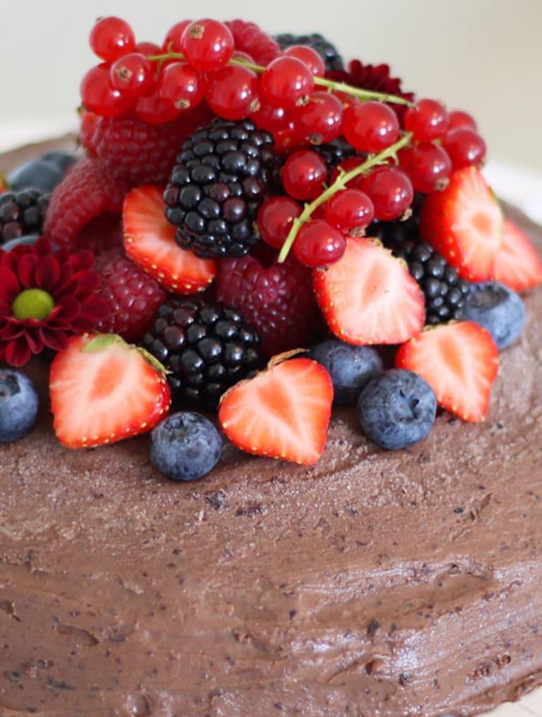 Glutenfri vegansk mocca black beans kage