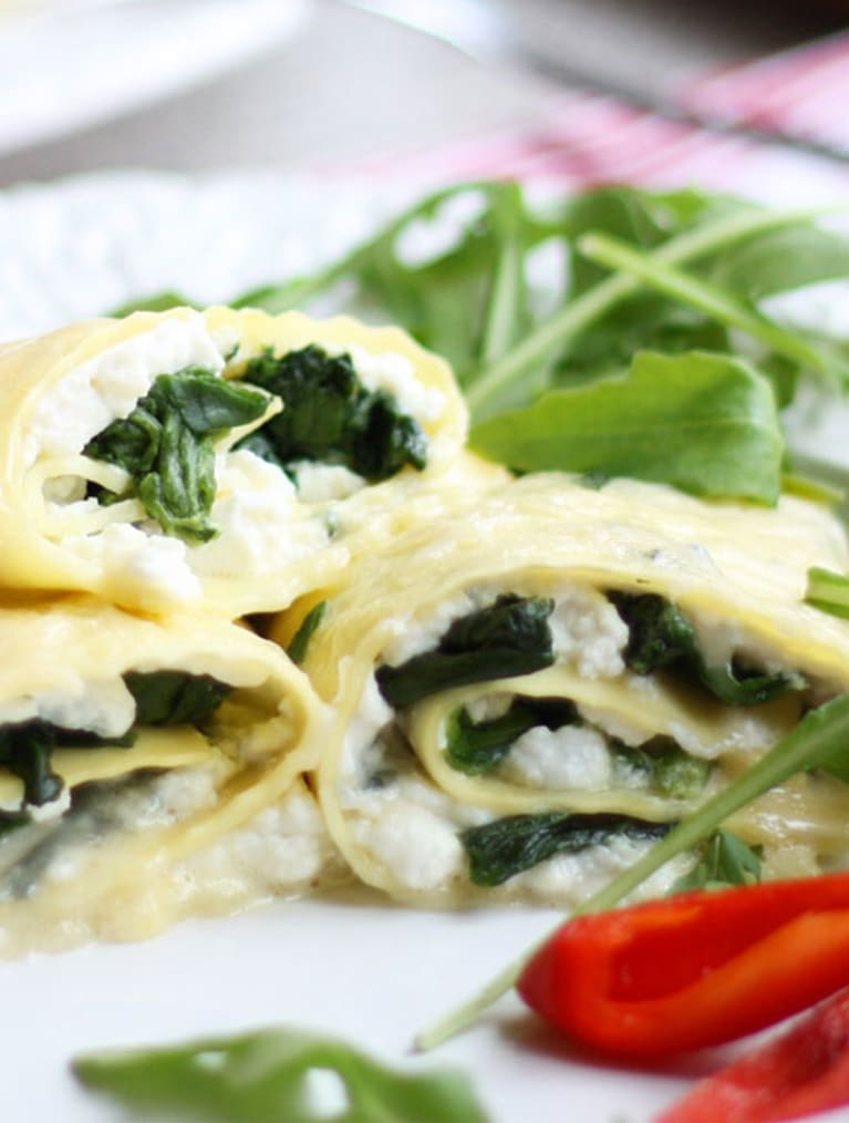 Glutenfri cannelloni med ricotta og svampe