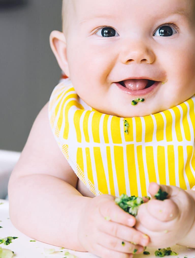 Header Baby - babis äter broccoli - Semper Barnmat