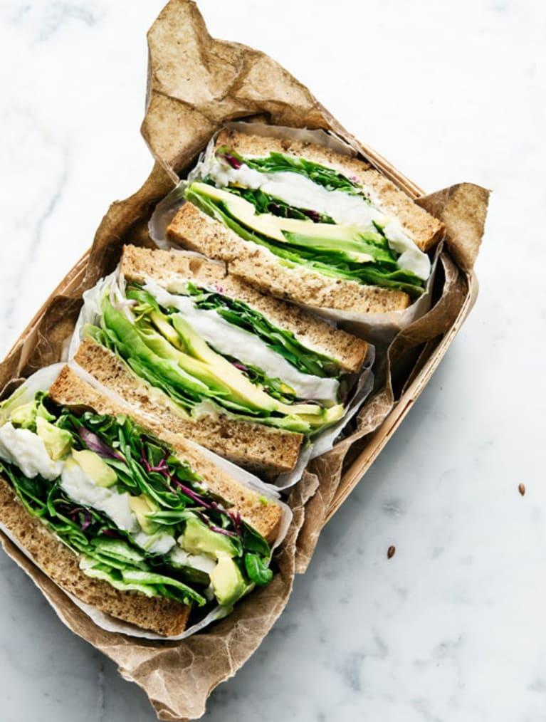 Glutenfir mozzarella sandwich