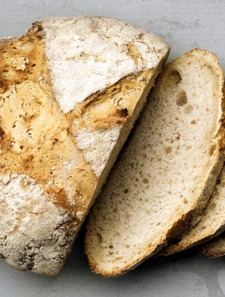 Glutenfritt lantbröd - uppskivat