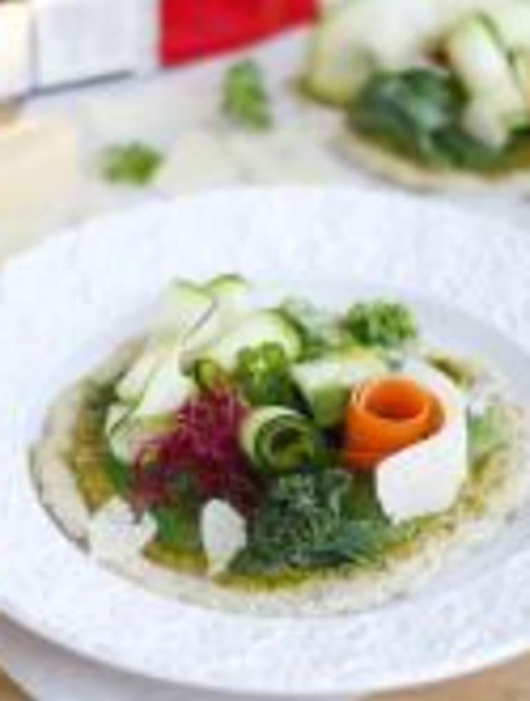 Glutenfri grønn superfoodpizza