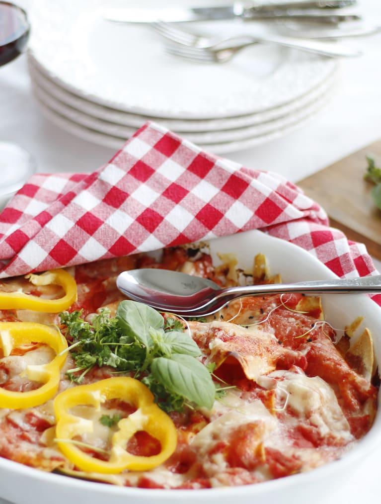 Glutenfri grön lasagne