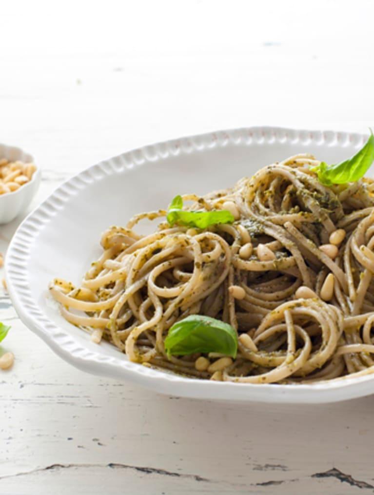 Glutenfri Pesto linguine