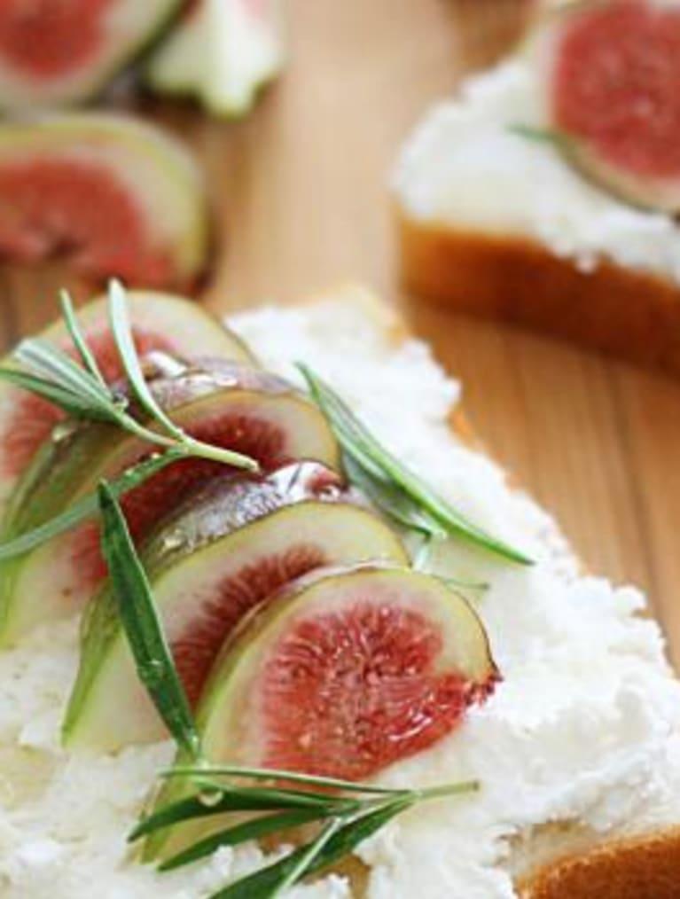 Enkel glutenfri toast med fikon