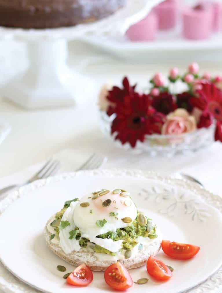 Glutenfritt smørbrød med pochert egg