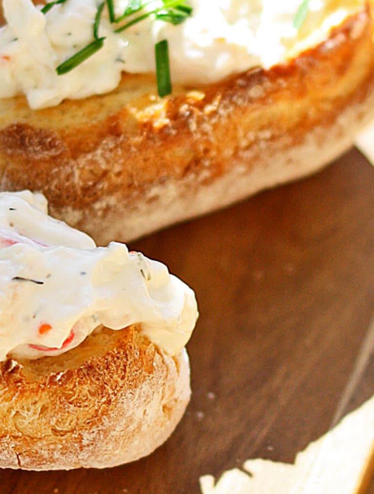 Skagenbaguette med Sempers glutenfria minibaguetter