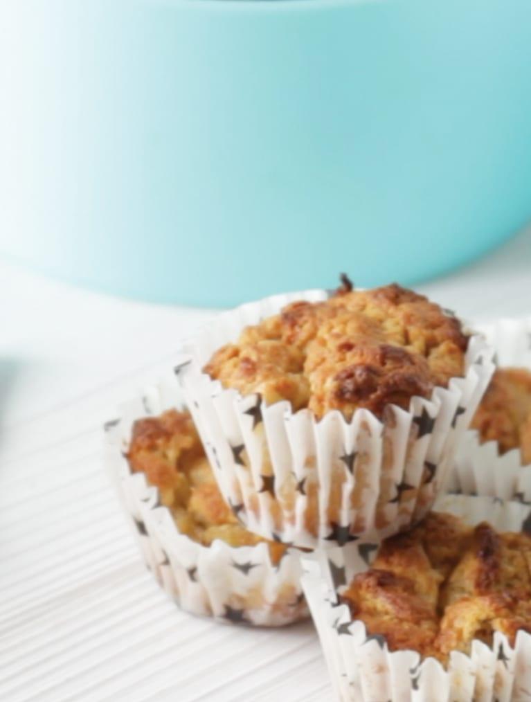 Nemme Mini muffins med banan bagt med Grødpulver fra Semper Børnemad