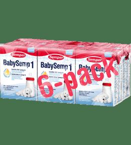BabySemp 1 drickfärdig 200ml x 6 fp. - Semper Barnmat