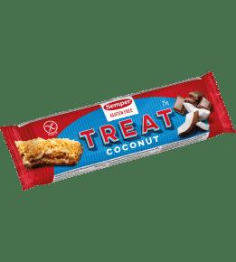 Semper Treat Kokos, en glutenfri bar med kokos och choklad