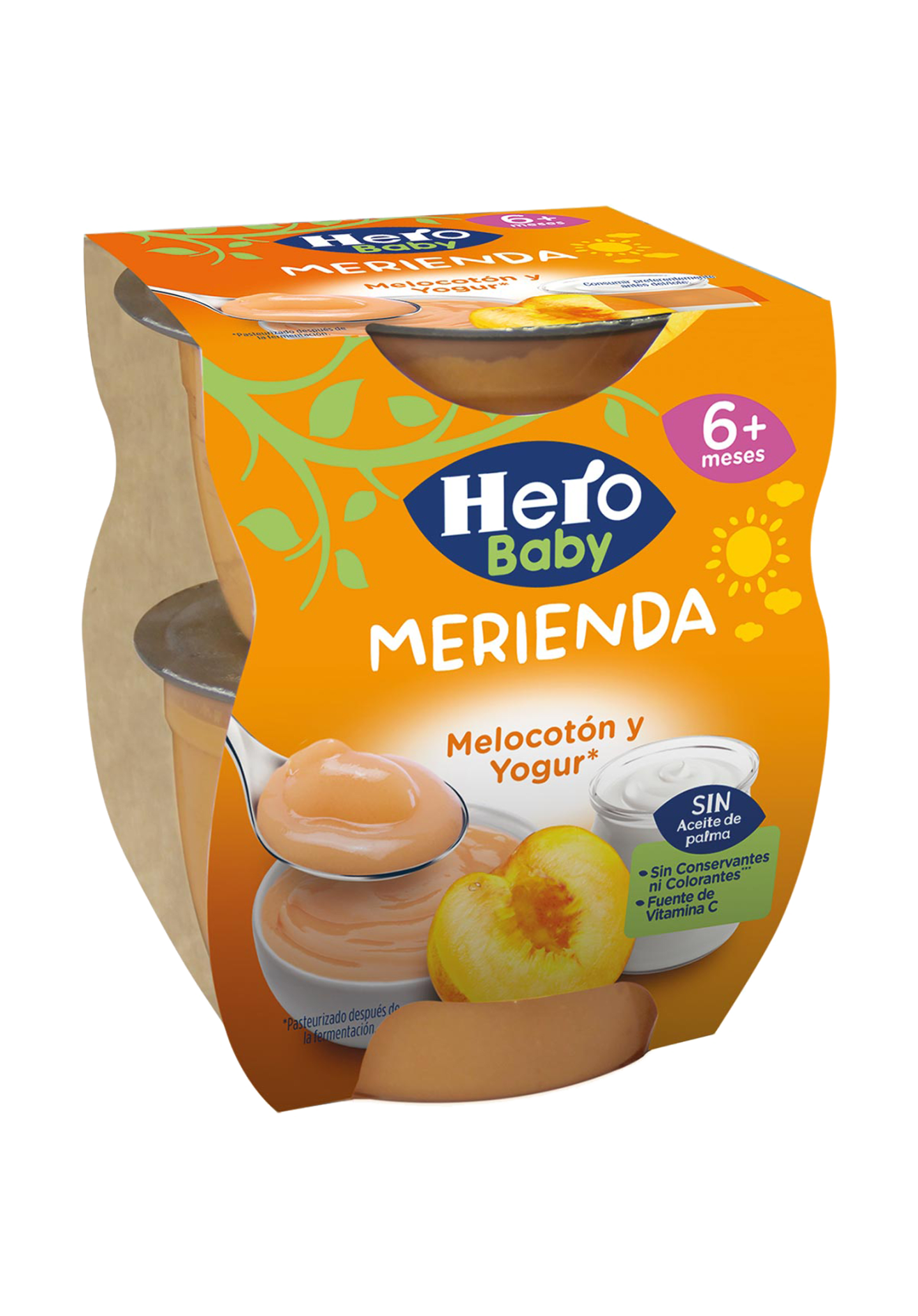 Tarrinas de Melocotón y Yogur