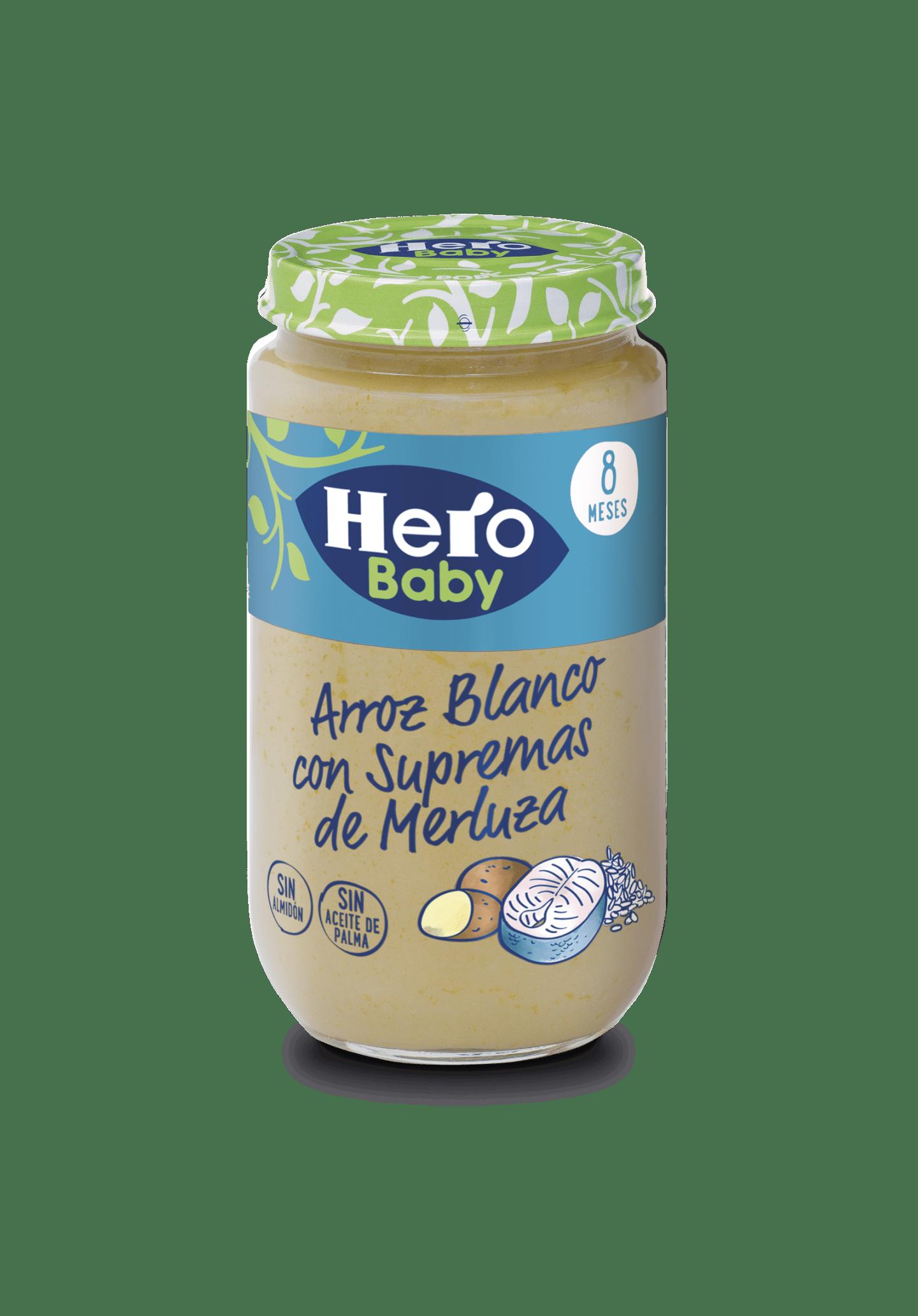 Tarrito de Arroz Blanco y Merluza