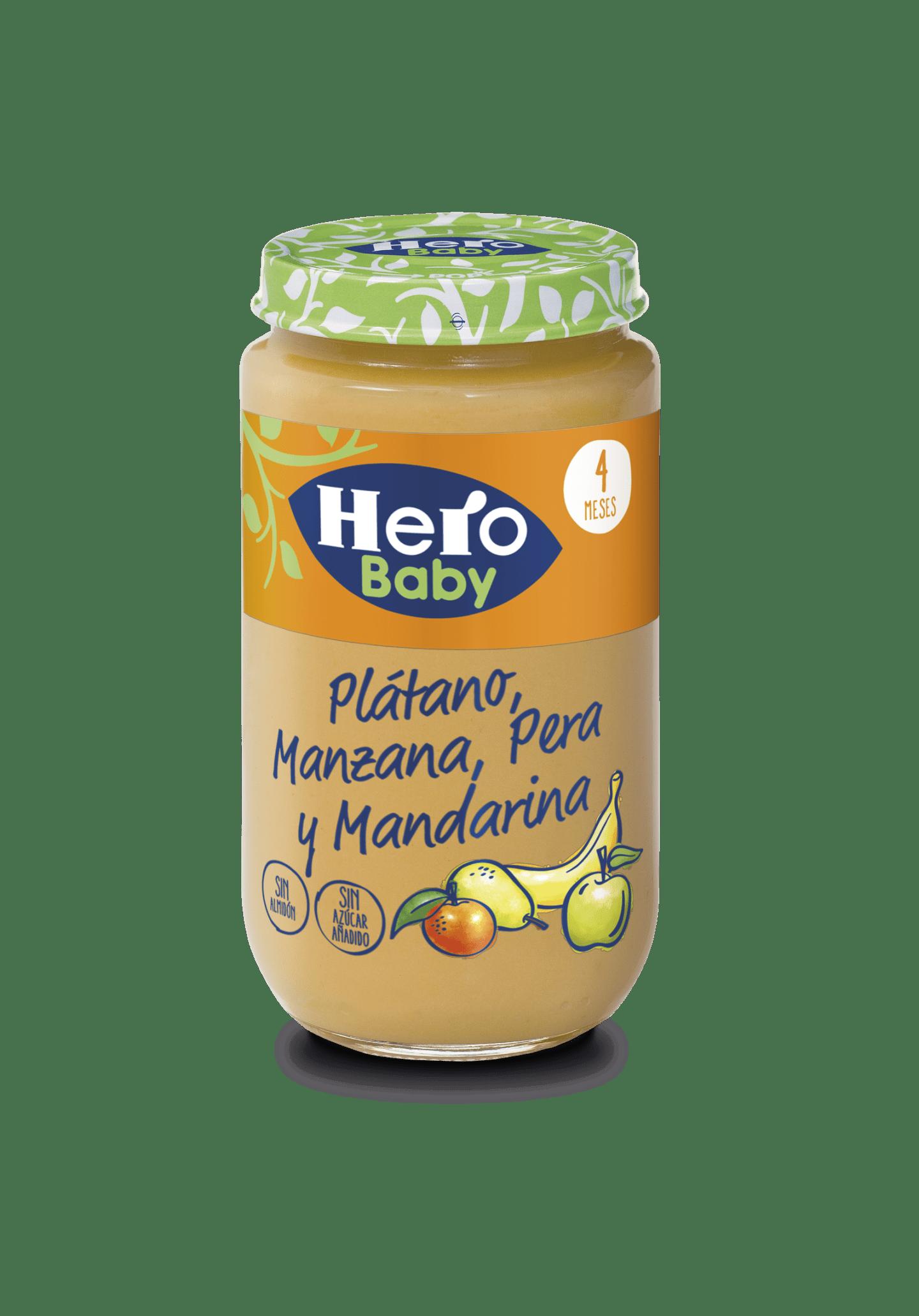 Tarrito Plátano Manzana Pera Mandarina