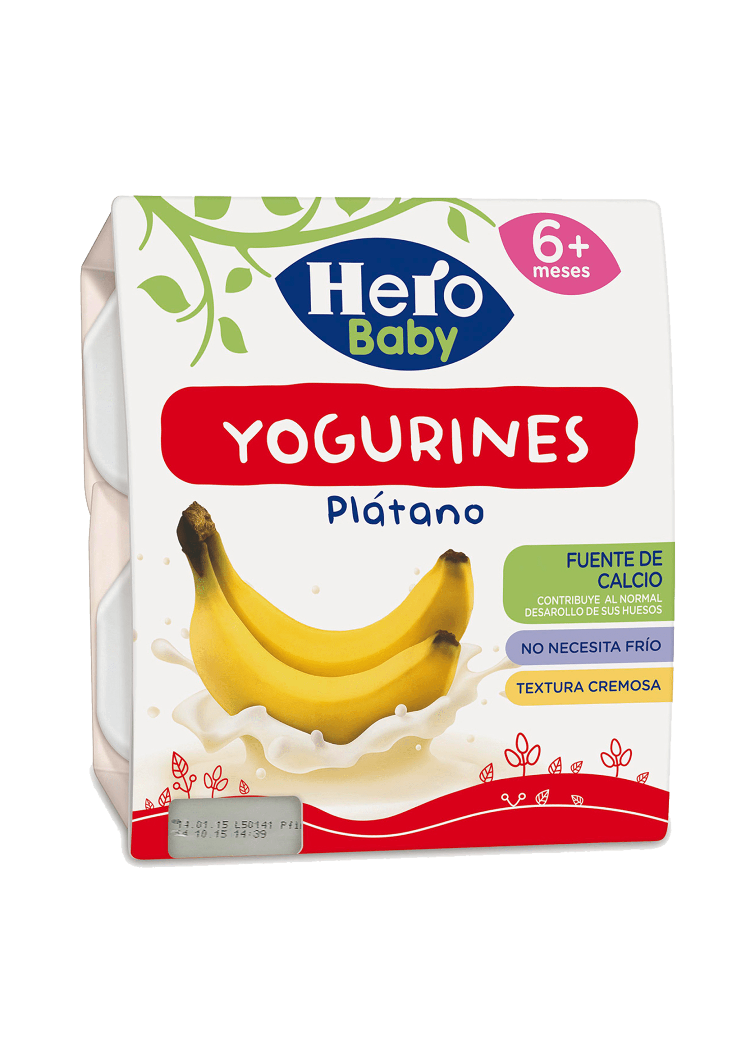 Tarrinas de Yogurín de Plátano