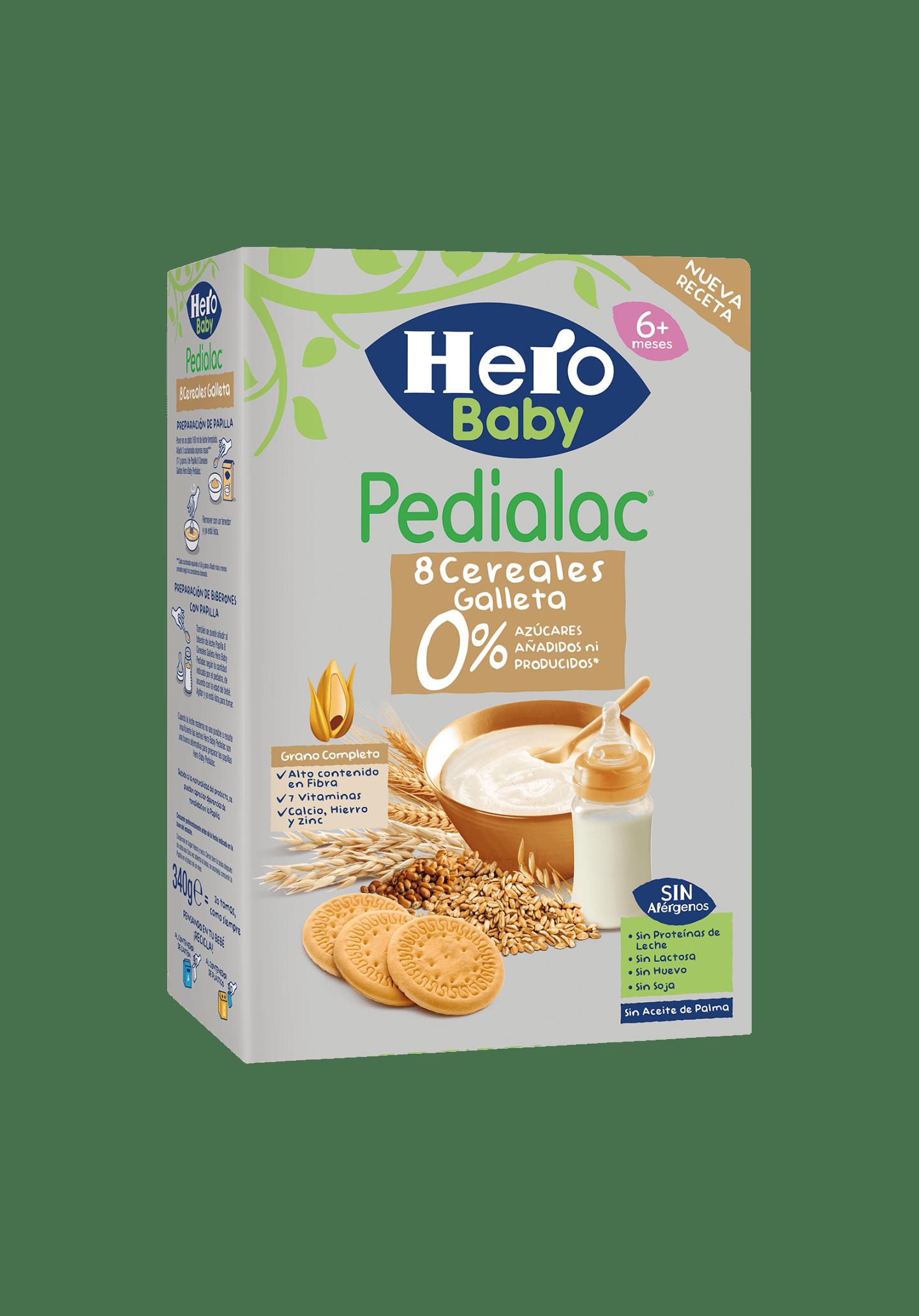 Papilla 8 Cereales con Galletas Pedialac