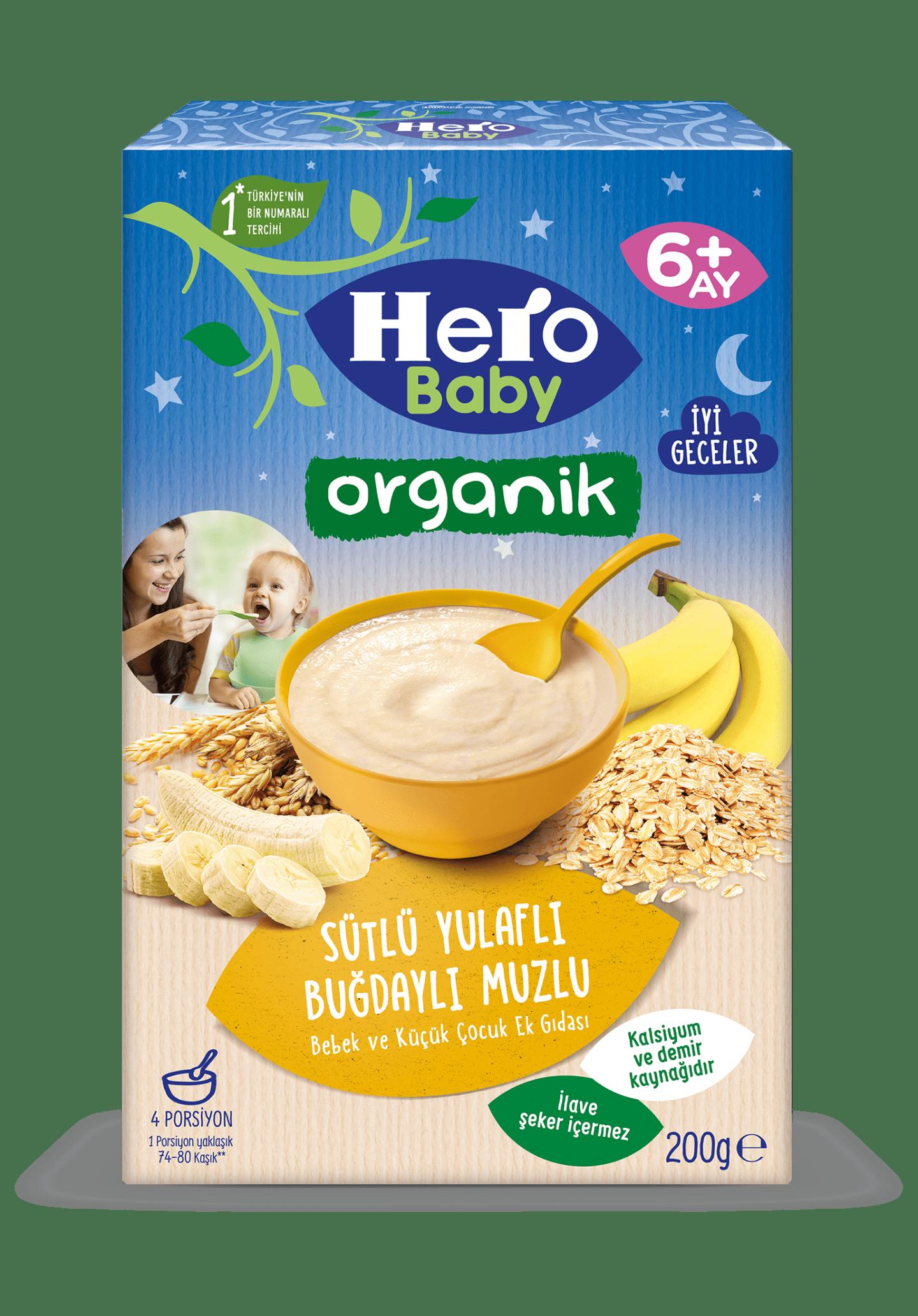 Organik Sütlü Yulaflı Buğdaylı Muzlu