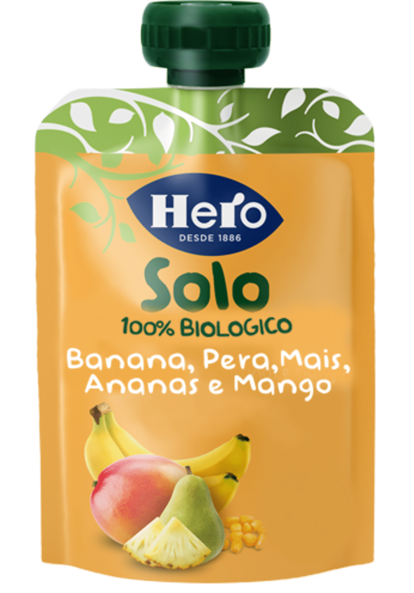 Banana, Pera, Mais, Ananas E Mango Biologici