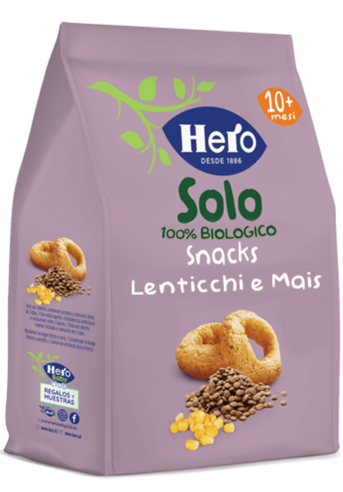Snacks Lenticchie e Mais Biologici