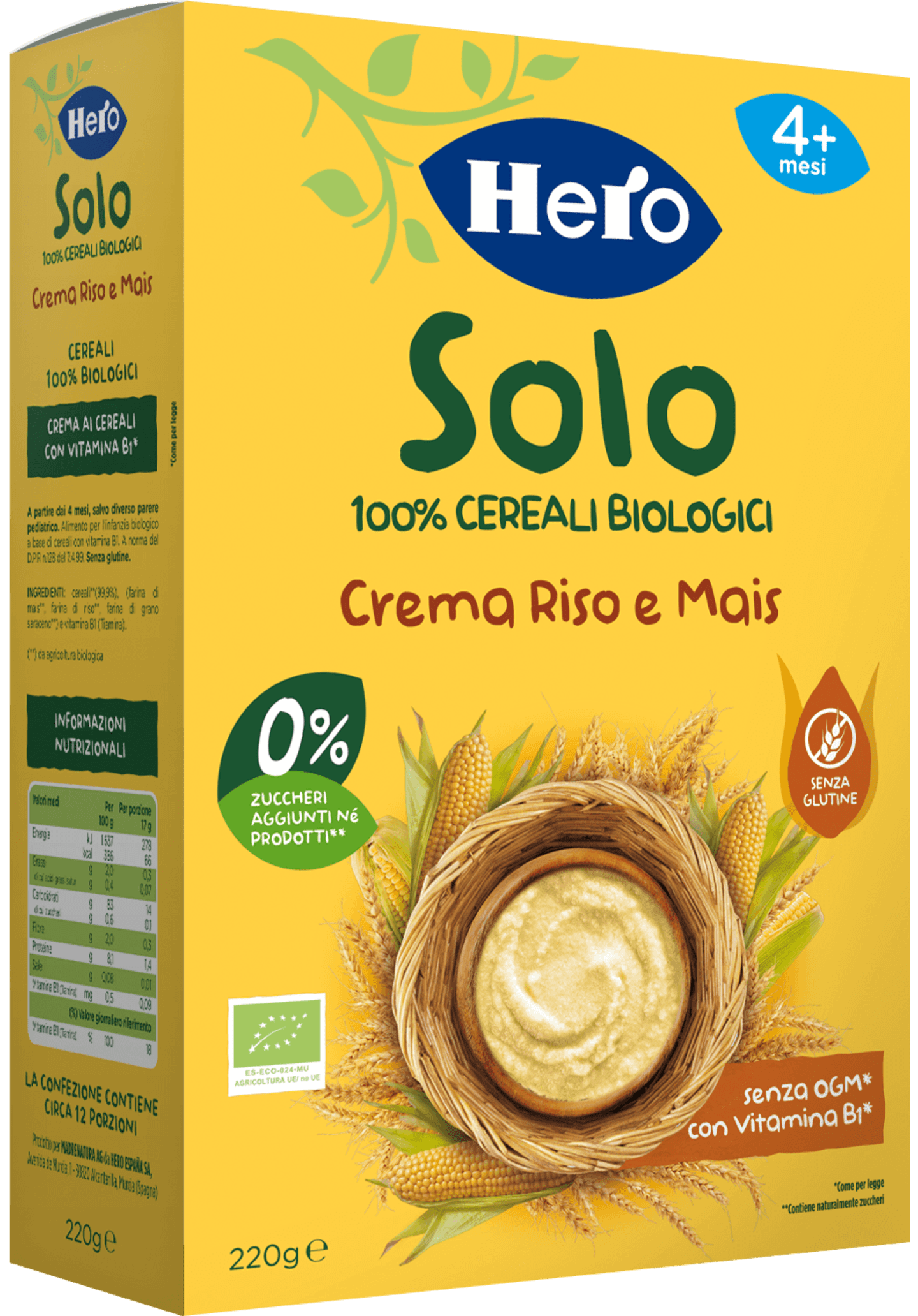 Crema Riso e Mais biologica