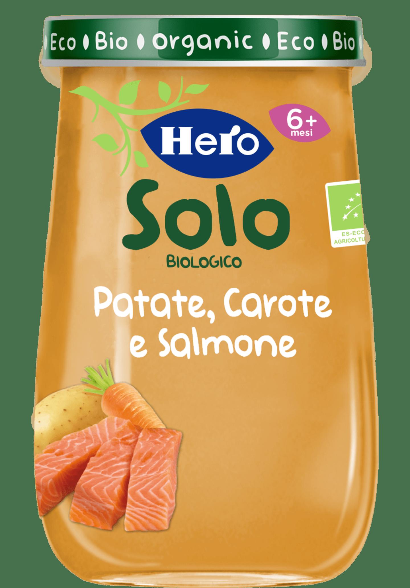 PATATE, CAROTE E SALMONE