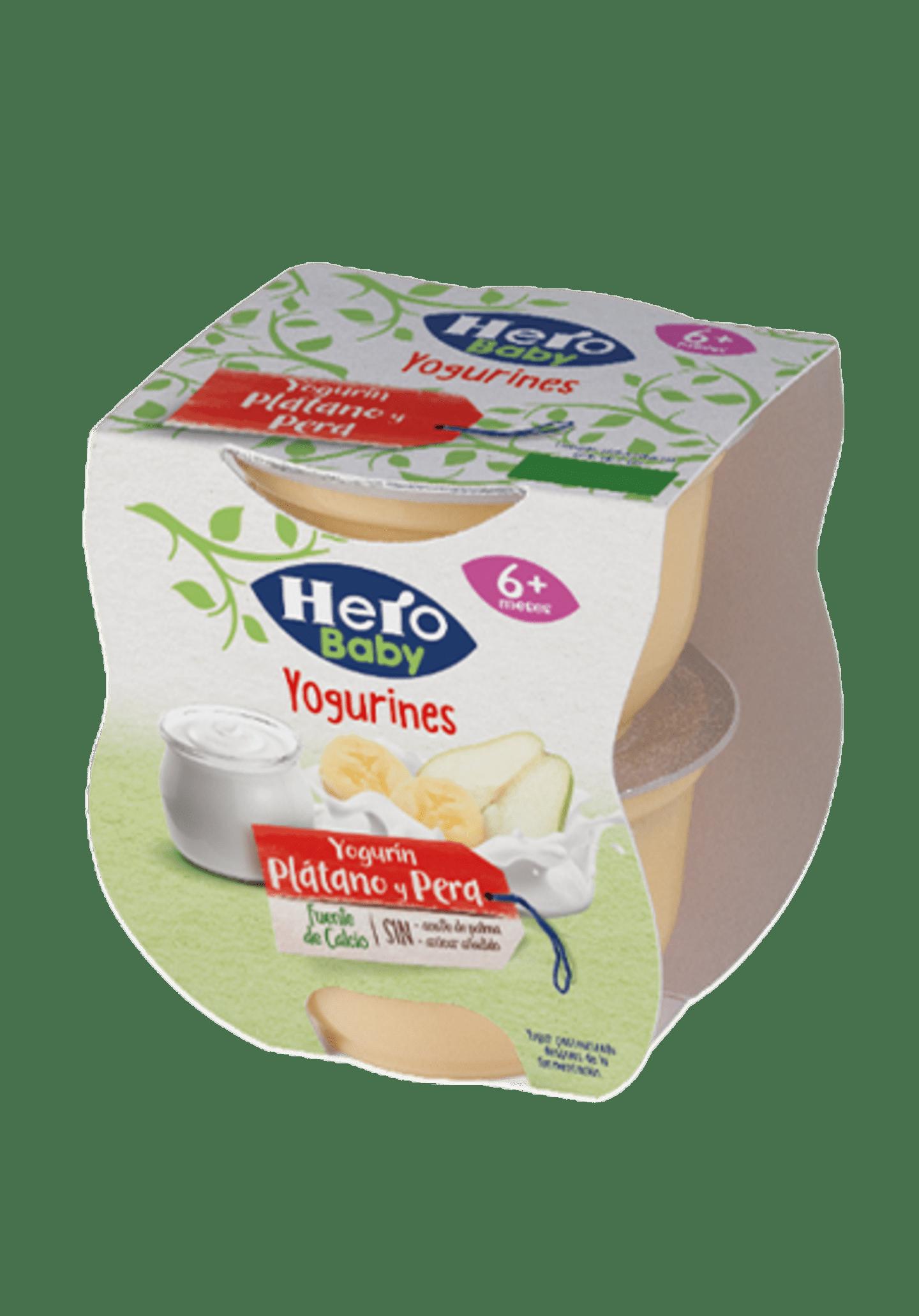 tarrinas yogurin platano y pera
