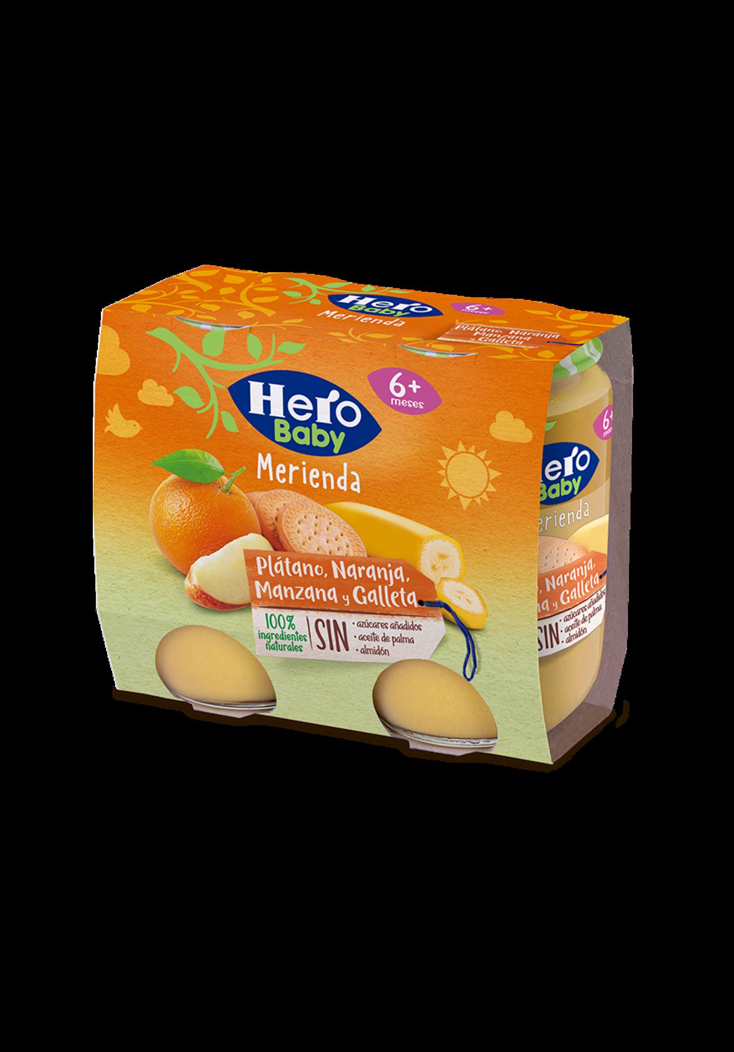 platano naranja y galleta