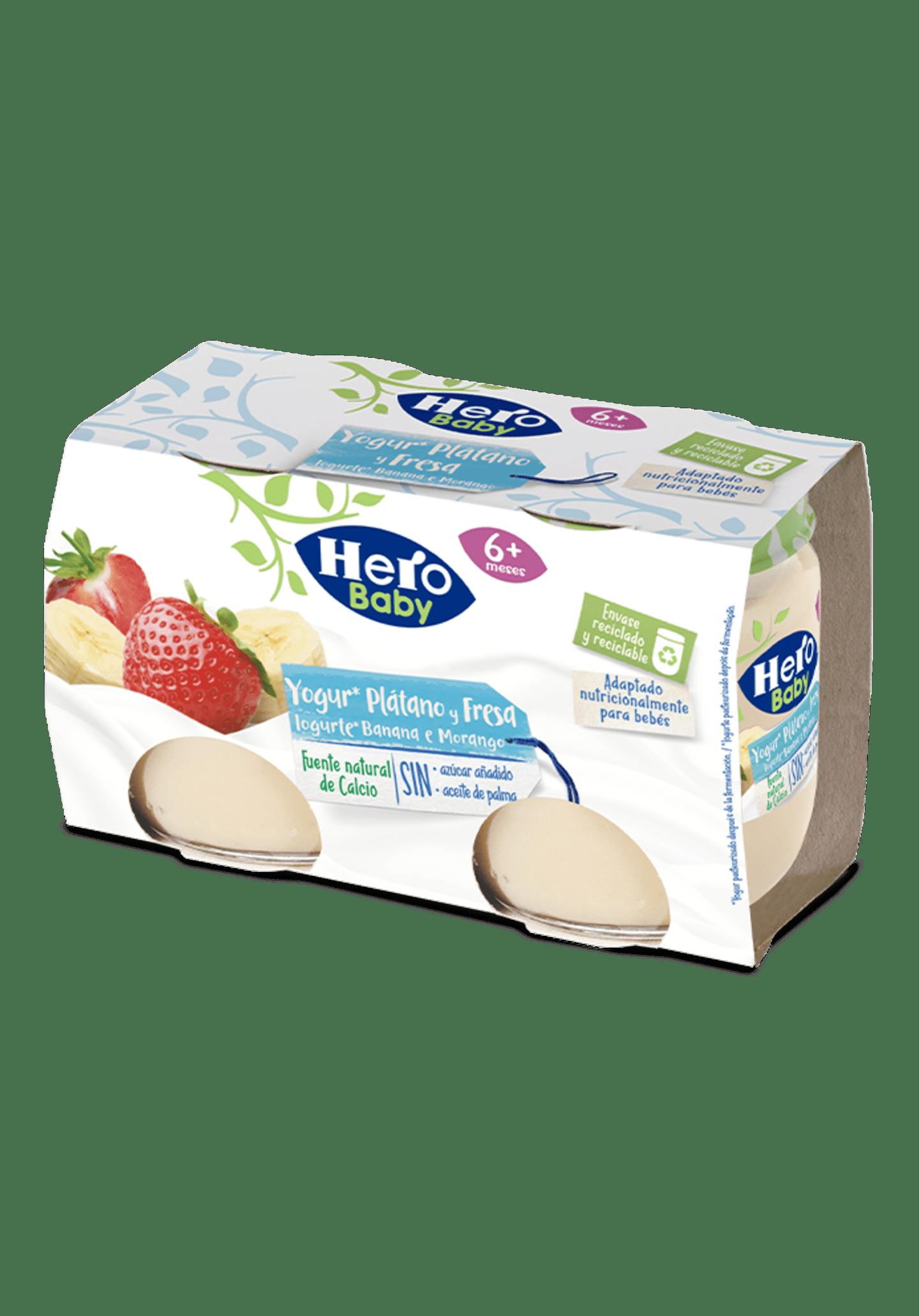 Yogur plátano y fresa Hero Baby