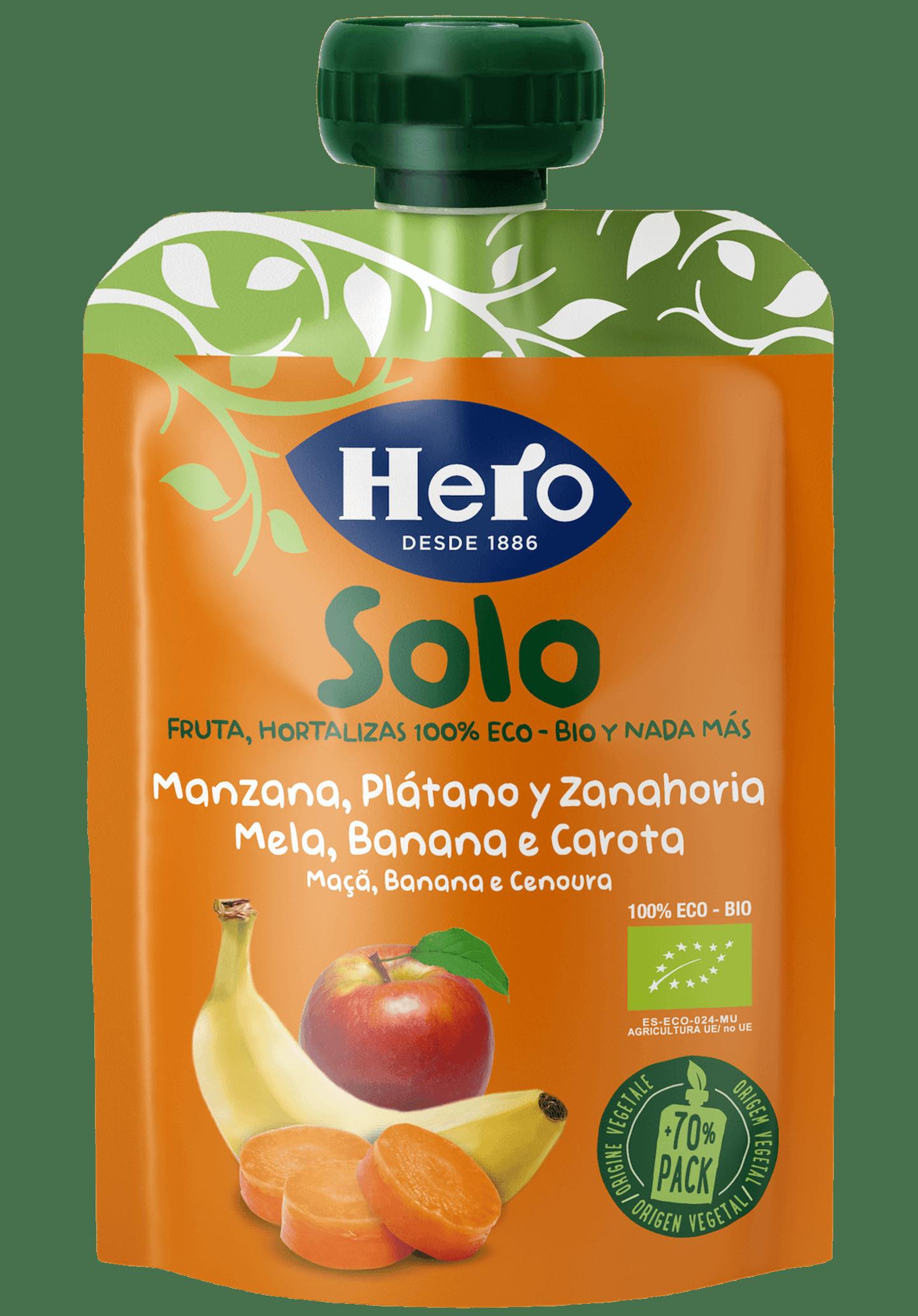 Hero Solo MAÇÃ BANANA E CENOURA
