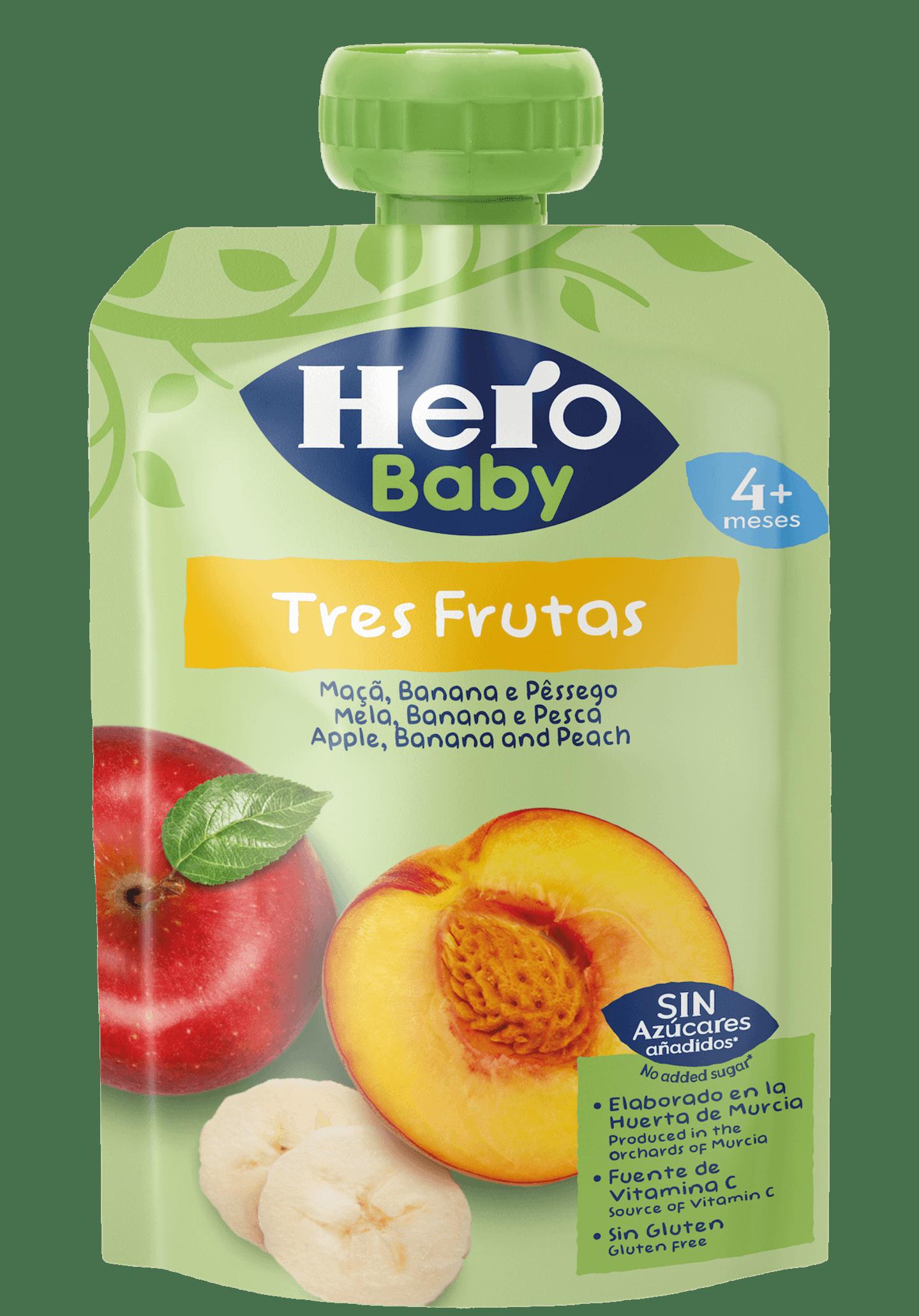 Saqueta Hero maçã banana e pêssego