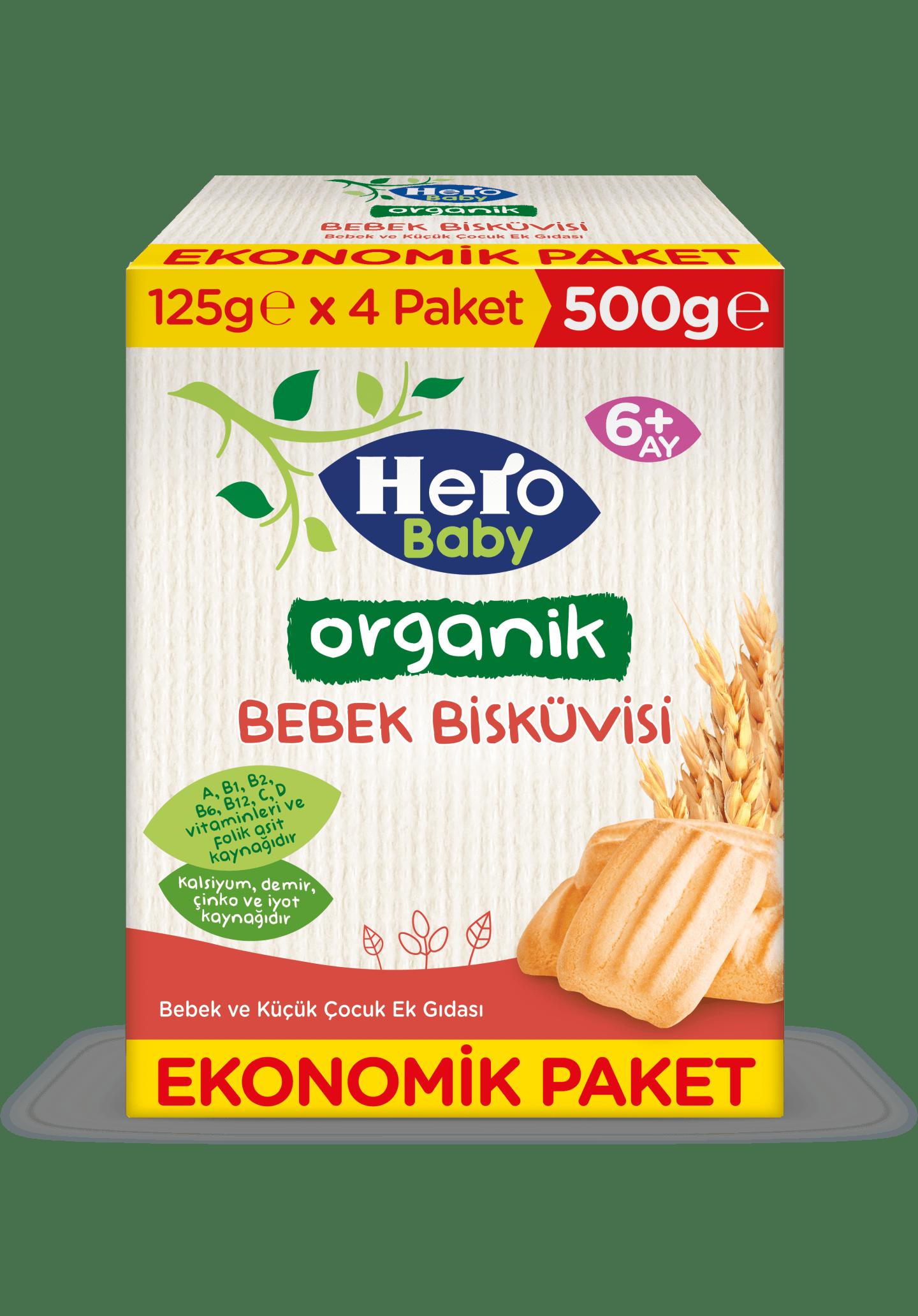 Organik Bebek Bisküvisi 500g