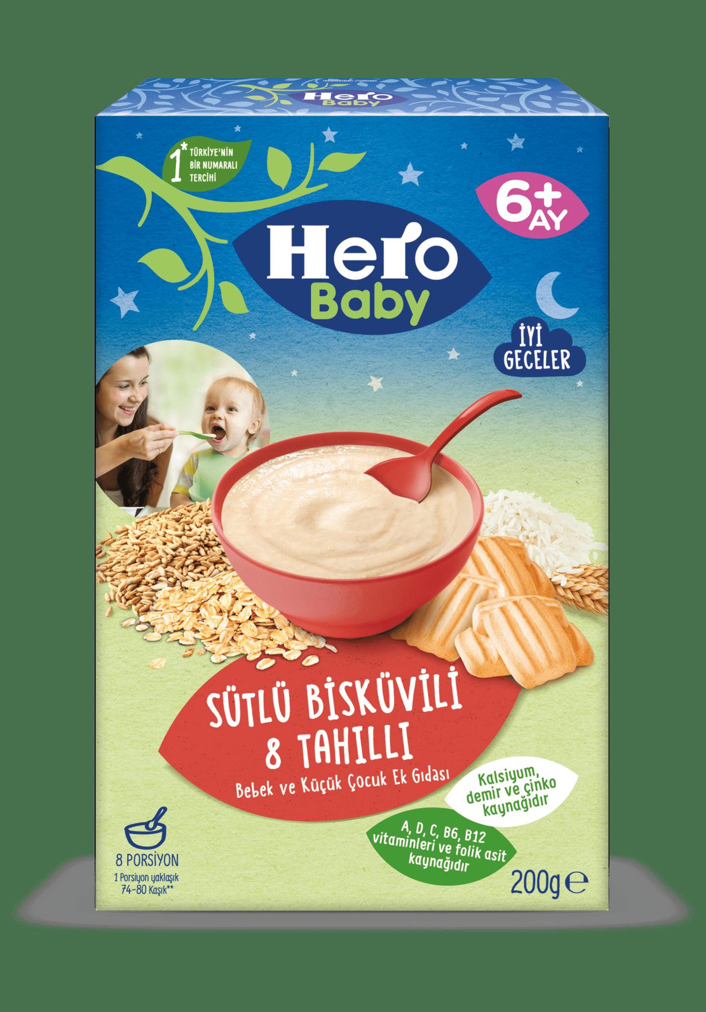 Sütlü Bisküvili 8 Tahıllı 200g
