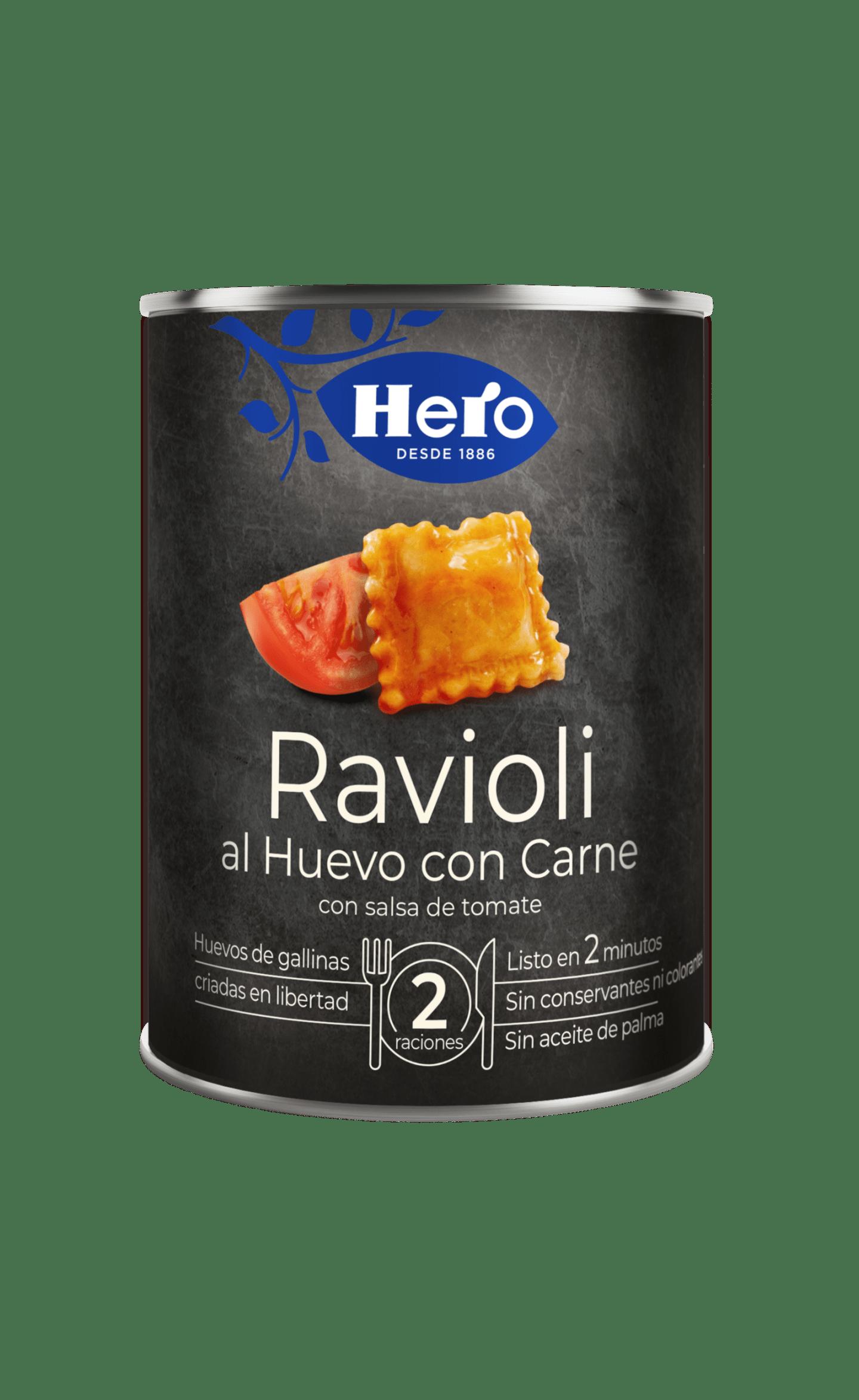 Ravioli al Huevo con Salsa de Tomate