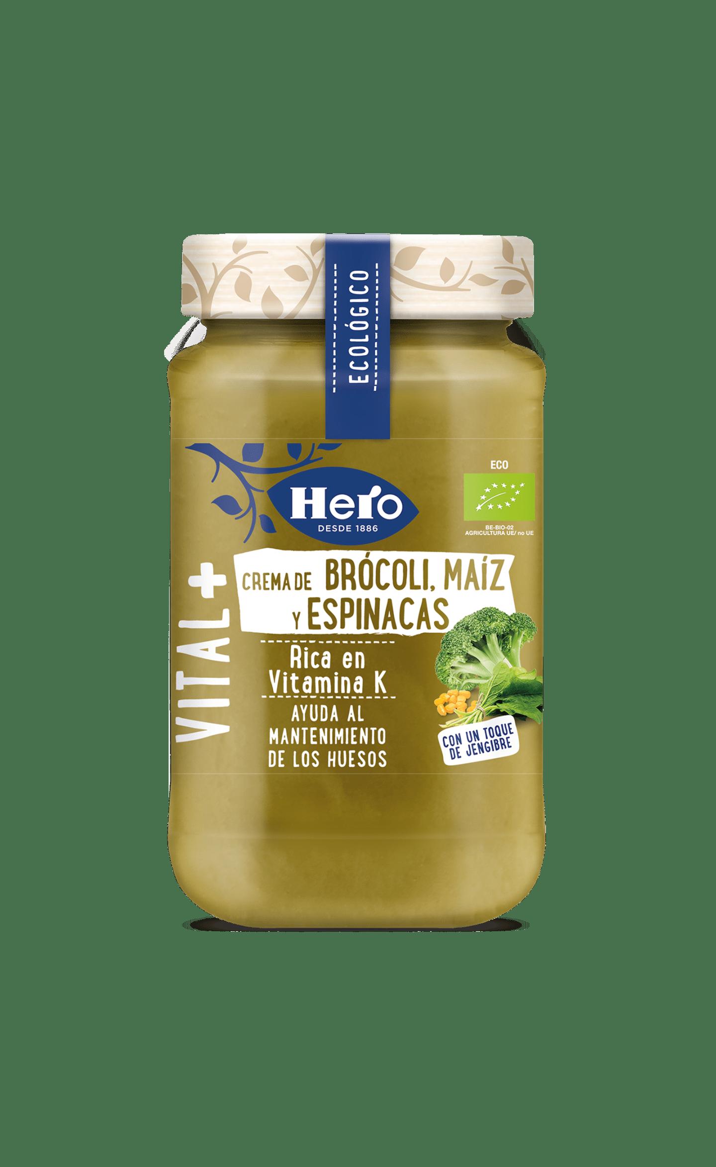 Crema Ecológica Brócoli Maíz y Espinacas