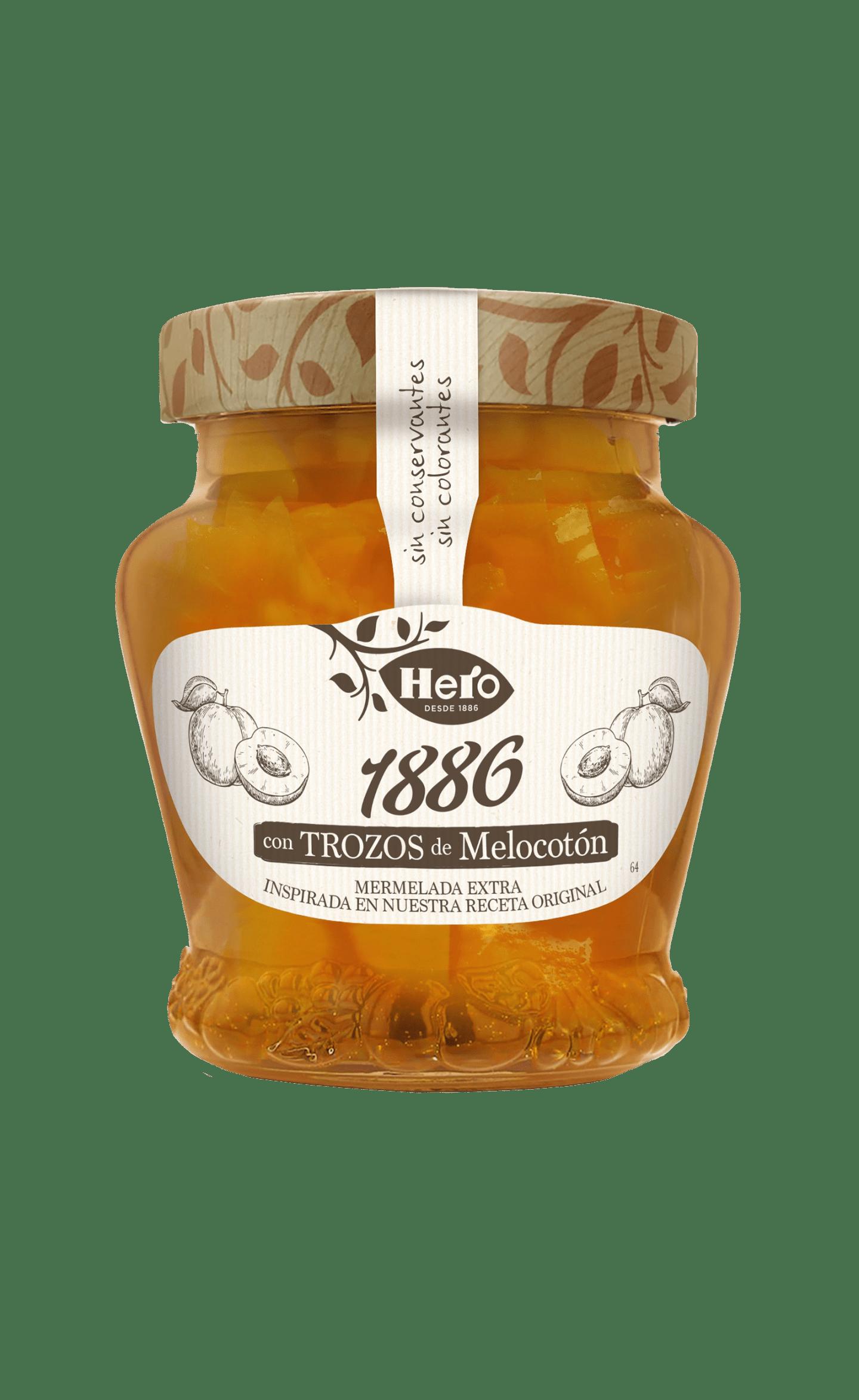 Mermelada 1886 de Melocotón con Trozos