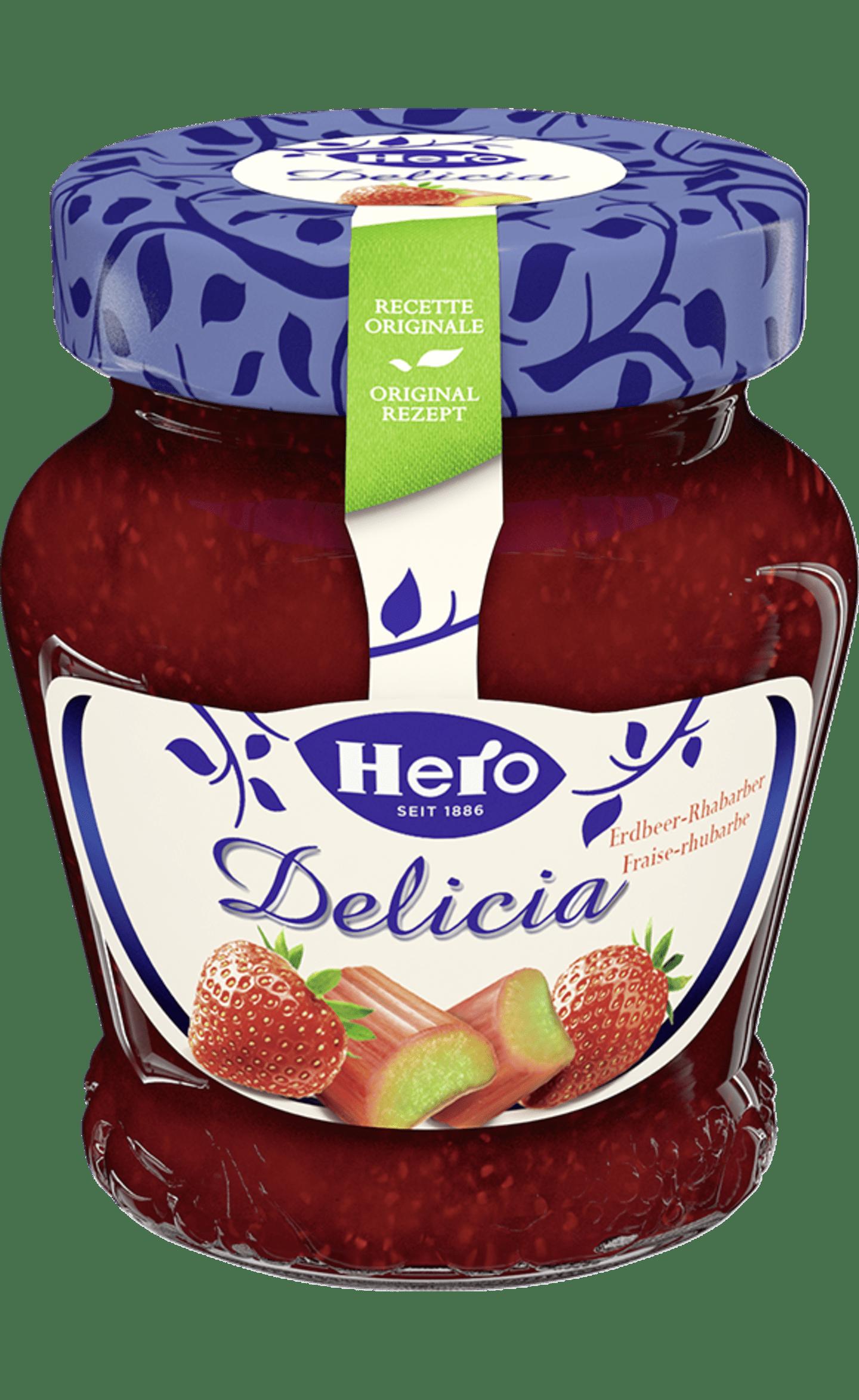 Hero Delicia Konfitüre | Erdbeer Rhabarber