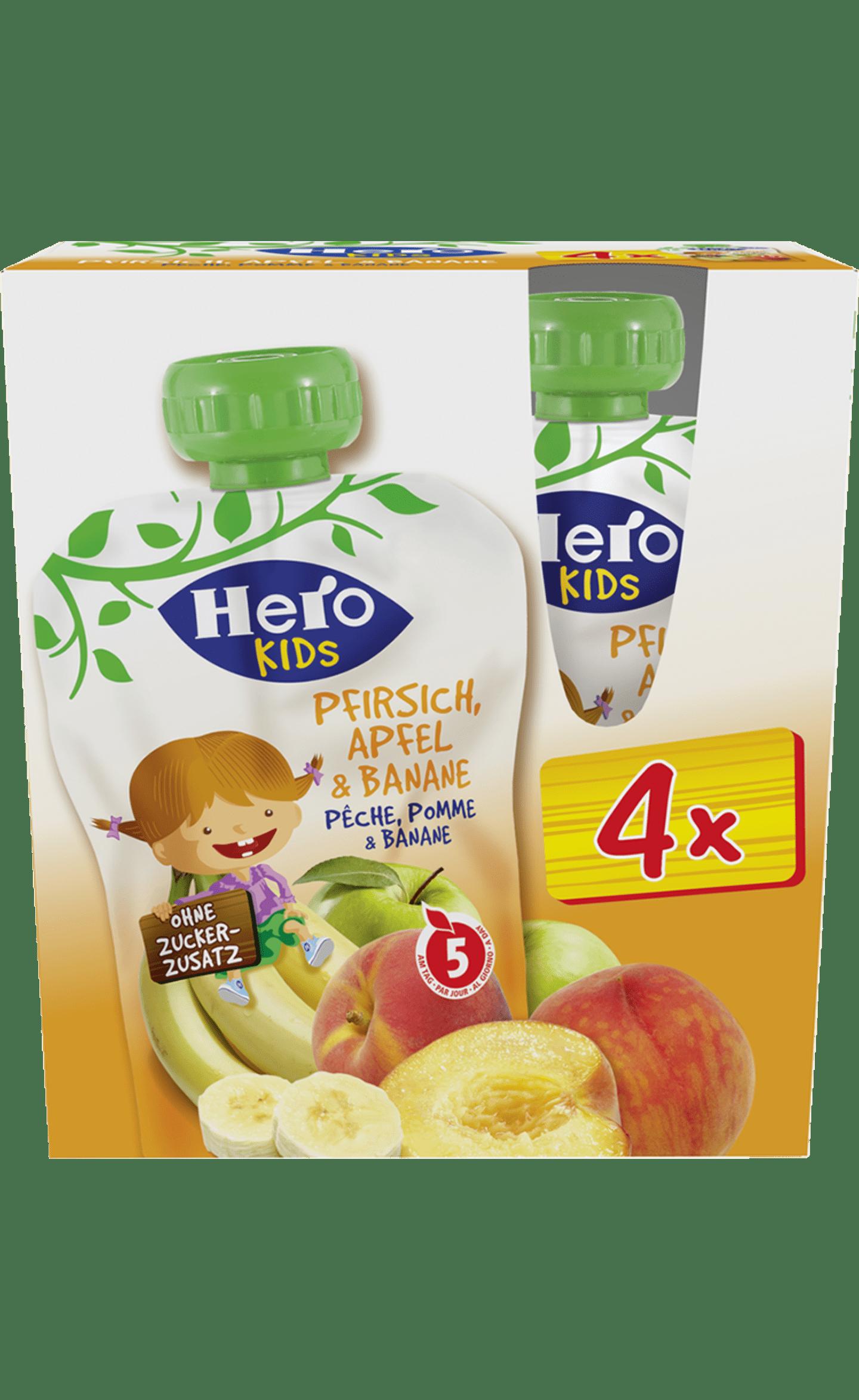 Hero Kids Pfirsich Apfel Banane