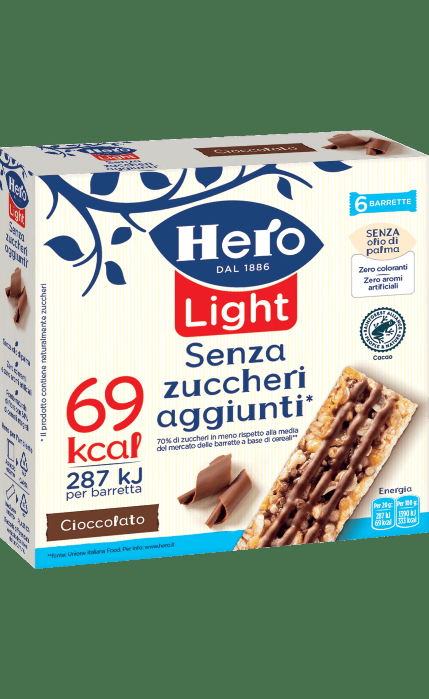 hero light barrette al cioccolato