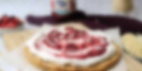 Beleggen ontbijtpizza rood fruit