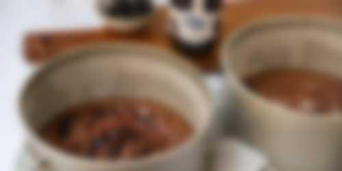 Voorbereiding 2 chocoladetaart ganache