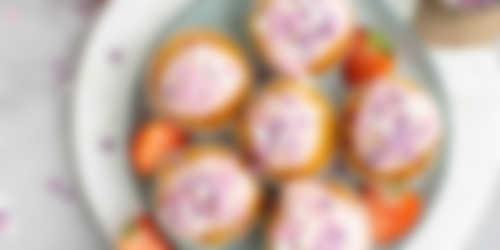 Aardbeien cupcakes resultaat