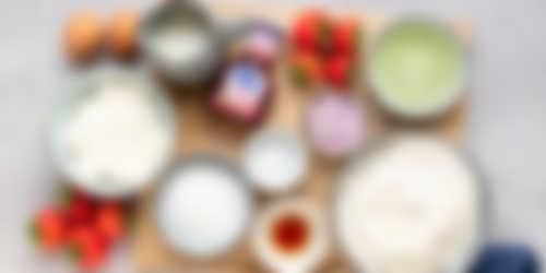 Hero ingredienten Aardbeien cupcakes