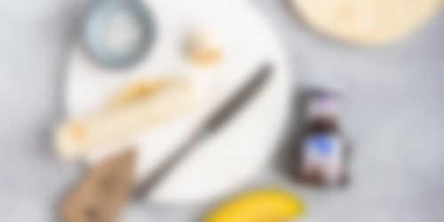 Bananen sushi bereiding