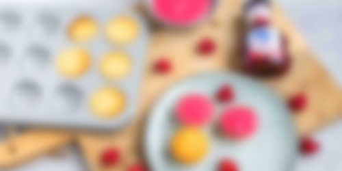 Mini roze koeken bereiding