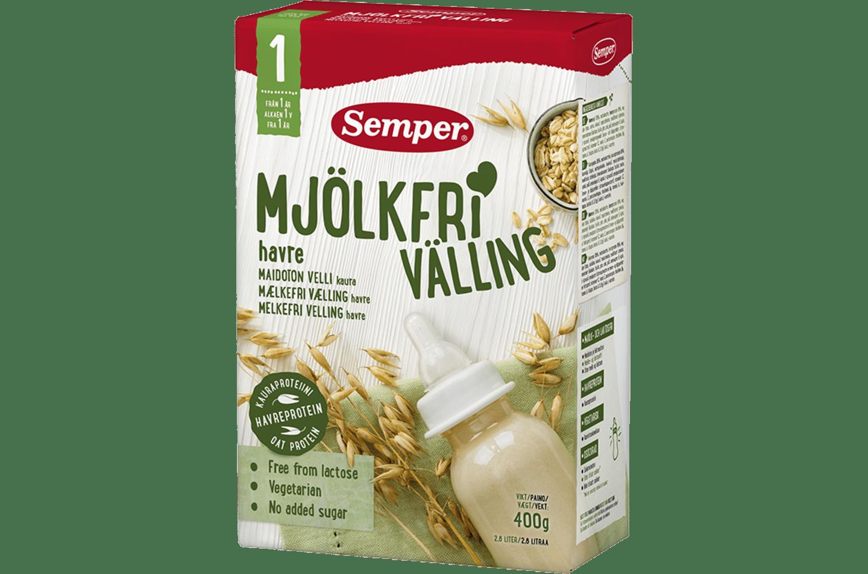 Mjölkfri välling med havre från Semper Barnmat