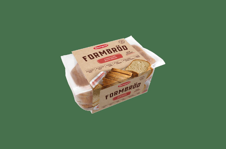 Semper Formbröd är ett vitt bröd fri från gluten