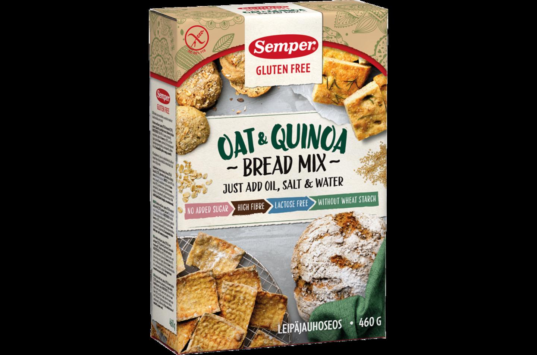 Oat & Quinoa Bread Mix, en brödmix för bakning