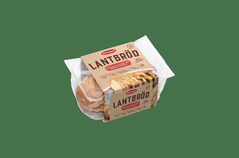 Semper Lantbröd, ett färdigskivat och glutenfritt mjukt bröd