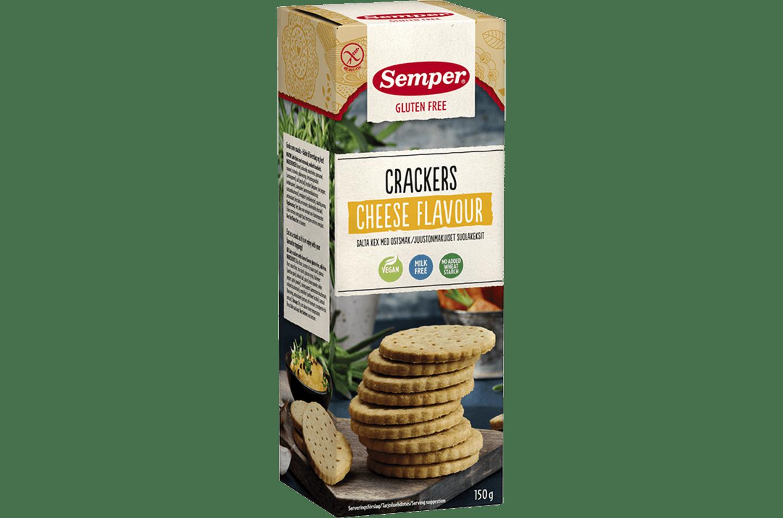 Semper Crackers Cheese Flavour, glutenfria kex med ostsmak