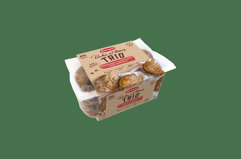 Semper Trio, glutenfria och mjuka frallor