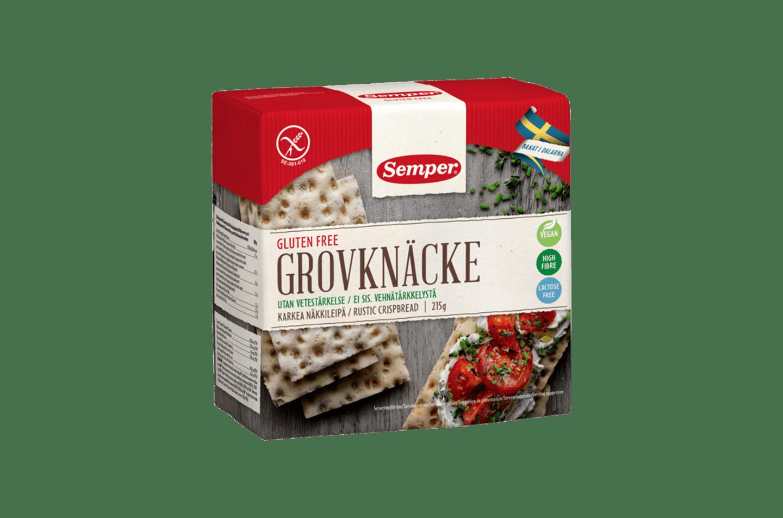 Semper Grovknäcke, ett glutenfritt knäckebröd